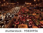 Beijing Oct 25  Traffic Jam In...