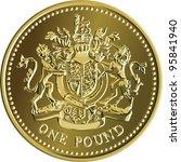Vector British Money Gold Coin...