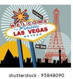 Las Vegas - stock vector