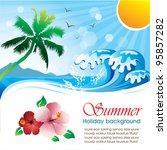 summer holiday vector design 01 | Shutterstock .eps vector #95857282