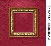 golden picture frame on the... | Shutterstock .eps vector #95864197