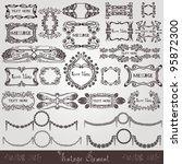 art nouveau label modern banner ... | Shutterstock .eps vector #95872300