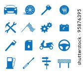 vector illustration icons on... | Shutterstock .eps vector #95876395