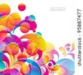 abstract colorful arc drop...   Shutterstock .eps vector #95887477