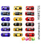 vector sport cars collection | Shutterstock .eps vector #95892721