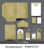 stationery design set in vector ... | Shutterstock .eps vector #95894707