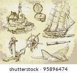 marine set  high quality... | Shutterstock .eps vector #95896474