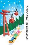 ski lift toboggan | Shutterstock . vector #95900572