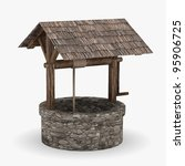 3d Render Of Medieval Well