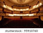 the interior of the hall in the ... | Shutterstock . vector #95910760