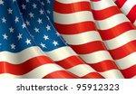 american flag waving | Shutterstock . vector #95912323