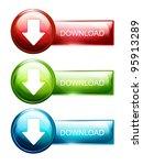 glossy modern web button. web... | Shutterstock .eps vector #95913289