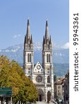 Cathedral of Voiron - stock photo