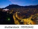 Monaco at night, Monte Carlo - stock photo