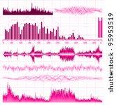 sound waves set. music...   Shutterstock .eps vector #95953519