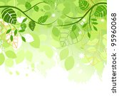 Spring Green Background Vector...