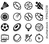 sport icon set | Shutterstock .eps vector #95962258