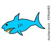 shark cartoon | Shutterstock .eps vector #95966485