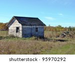 Old Weathered Farm Building