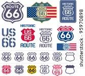 route 66 sign set | Shutterstock .eps vector #95970898