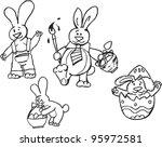 easter eggs   Shutterstock .eps vector #95972581
