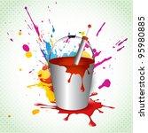 vector holi festival colorful... | Shutterstock .eps vector #95980885