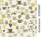 tea time. seamless background | Shutterstock .eps vector #95985889