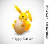 easter rabbit  eps10 | Shutterstock .eps vector #95985910