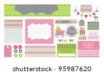 various elements for a baby... | Shutterstock .eps vector #95987620