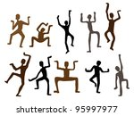 abstract ethnic dance men....