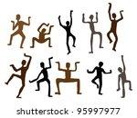 abstract ethnic dance men....