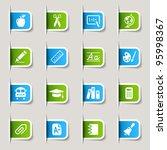 label   school icons | Shutterstock .eps vector #95998367