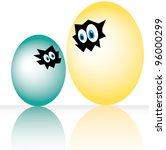 easter egg. vector illustration.   Shutterstock .eps vector #96000299