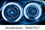 headlights of a car   Shutterstock . vector #96007517