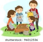 illustration of a family... | Shutterstock .eps vector #96012536