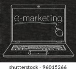 e marketing written on computer ... | Shutterstock . vector #96015266