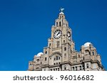 liver buildings on liverpool...