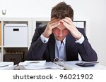 business man in office with... | Shutterstock . vector #96021902