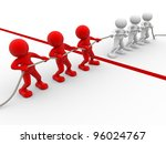 3d people   men  person rope... | Shutterstock . vector #96024767