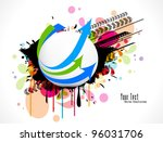 abstract modern banner theme... | Shutterstock .eps vector #96031706
