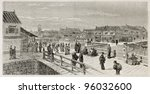 Storehouses On The Bank Near...
