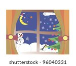 new year celebration outside... | Shutterstock .eps vector #96040331