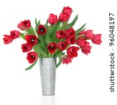 Red Tulip Flowers In A...