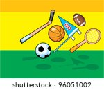 sports balls and items | Shutterstock . vector #96051002