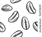 doodle style seamless coffee... | Shutterstock .eps vector #96055835