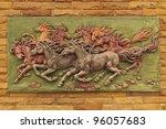 horse sculptures. use to... | Shutterstock . vector #96057683