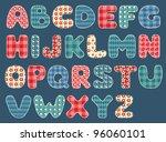 quilt alphabet. set patchwork... | Shutterstock .eps vector #96060101