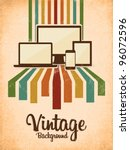 retro vintage background with... | Shutterstock .eps vector #96072596