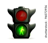 green light  vector | Shutterstock .eps vector #96072956