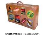 a world traveler suitcase... | Shutterstock .eps vector #96087059